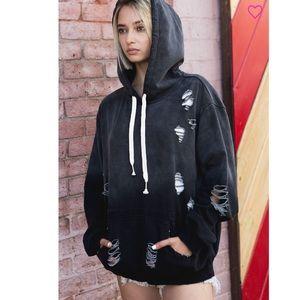 ✨LAST 2 Black distressed Hoody pullover